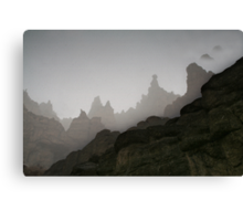 Fog in mountains (Afghanistan) Canvas Print
