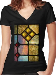 Diamonds In The Rough Women's Fitted V-Neck T-Shirt