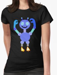 Multi-Colored Robot Womens Fitted T-Shirt