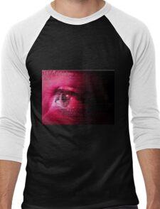 PINK EYE Men's Baseball ¾ T-Shirt