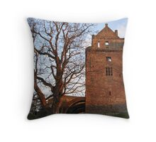 Balustrade at the side of Linlithgow Palace Throw Pillow