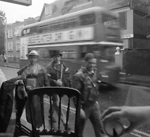 Passers-by and London Bus by Jen49