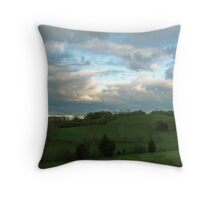 Rolling Hills, Rolling Skies Throw Pillow