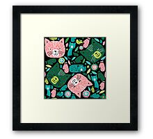kittens in mittens Framed Print