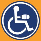 DISABLED JOKE PARKING SIGN HAND by SofiaYoushi