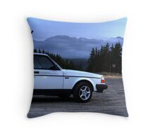 Hurricane Ridge and Volvo Throw Pillow