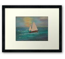 Sailing on Our Own Star Framed Print
