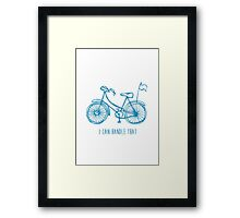 Hipster bicycle - blue - matches with orange bicycle Framed Print
