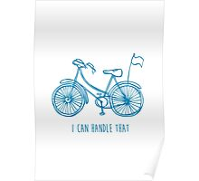 Hipster bicycle - blue - matches with orange bicycle Poster