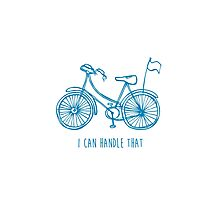 Hipster bicycle - blue - matches with orange bicycle Photographic Print