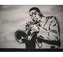 Jazz Player Trumpet Photographic Print