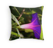 Purple Mornings Glory Throw Pillow