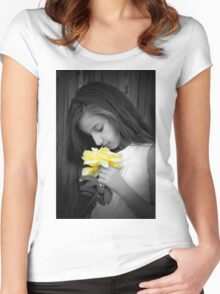 rotem  Women's Fitted Scoop T-Shirt