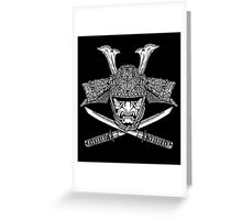 Samurai Jolly Roger Greeting Card
