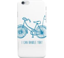 Hipster bicycle - blue - matches with orange bicycle iPhone Case/Skin