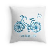 Hipster bicycle - blue - matches with orange bicycle Throw Pillow