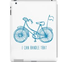 Hipster bicycle - blue - matches with orange bicycle iPad Case/Skin