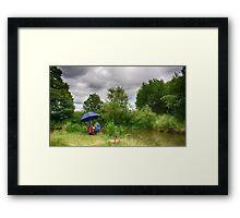 The Carp Fisherman Framed Print