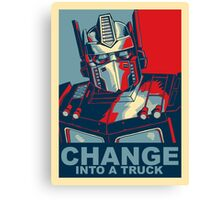 Optimus Prime - Change Canvas Print
