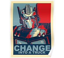 Optimus Prime - Change Poster