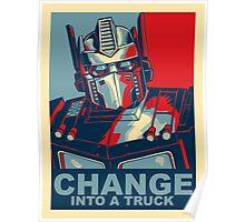 Optimus Prime - Change Poster