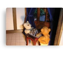 Pay attention - game of chess Canvas Print