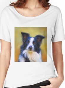 Taj - Border Collie Women's Relaxed Fit T-Shirt