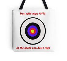 100% of shots Tote Bag