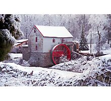 Snow at the Old Mill Photographic Print