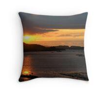 dunvegan sunset Throw Pillow
