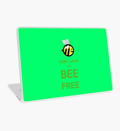 KEEP CALM AND BEE FREE!!! Laptop Skin