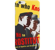 Men Who Know Say No To Prostitute - Color iPhone Case/Skin
