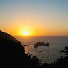 Sunset at sea by Faith Barker Photography