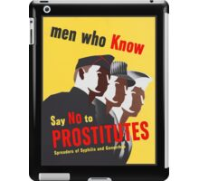 Men Who Know Say No To Prostitute - Color iPad Case/Skin