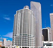 Downtown Miami Architecture by Roland Pozo