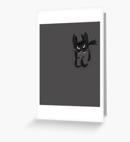 Toothless in your pocket  Greeting Card