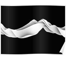 Flow Black Poster