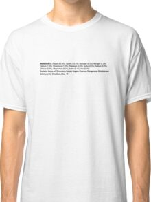 ingredients: horizontal {black} Classic T-Shirt