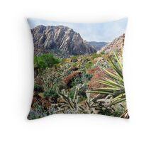 Red Rock Desertscape Throw Pillow