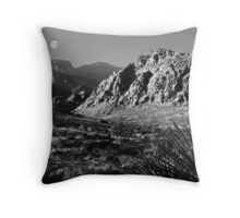 Desert Moon Throw Pillow