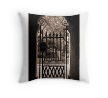 College of Charleston Gate View in Sepia Throw Pillow