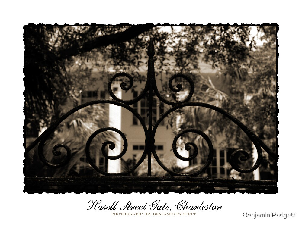 Hasell Street Gate in Sepia by Benjamin Padgett