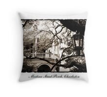 Meeting Street Porch in Sepia Throw Pillow