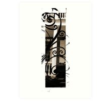 Charleston, Vertical Sepia #2 Art Print