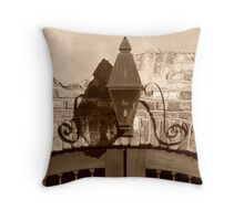 Queen Street Gas Lamp #2 Throw Pillow