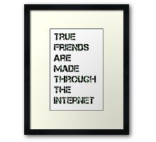 Internet friendship  Framed Print