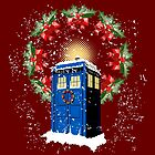 A WARM & COMFORTABLE TARDIS IN THGE SNOWSTORM  by karmadesigner