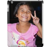 Ferdie, her smile and her 'peace' iPad Case/Skin