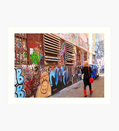 Rutledge Lane, Melbourne, VIctoria, Australia  Art Print