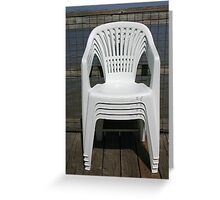 CHAIRS ON A DECK Greeting Card
